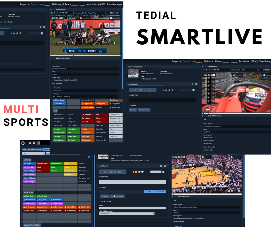tedial smartlive multisports production